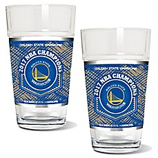 image of NBA Golden State Warriors 2017 NBA Finals Champion Pint Glasses (Set of 2)