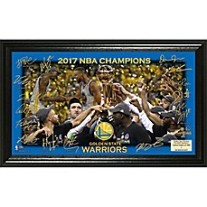 image of NBA Golden State Warriors 2017 NBA Finals Champion Court Signature Display
