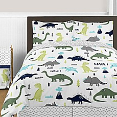 Sweet Jojo Designs Mod Dinosaur Bedding Collection In Turquoise Navy
