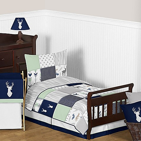 Sweet Jojo Designs Woodsy Toddler Bedding Collection in