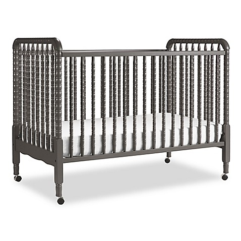 Davinci jenny lind 3 in 1 convertible crib in slate bed for Jenny lind crib