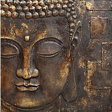 Arthouse Black And Gold Buddha Canvas Wall Art