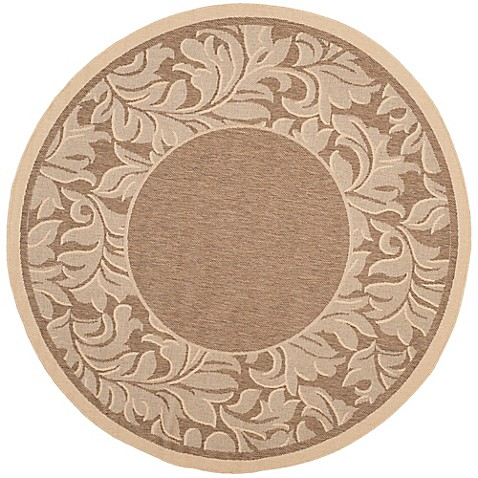 Buy safavieh courtyard 5 foot 3 inch x 5 foot 3 inch ximena indoor outdoor rug in brown natural - Tips to consider when buying an outdoor rug ...
