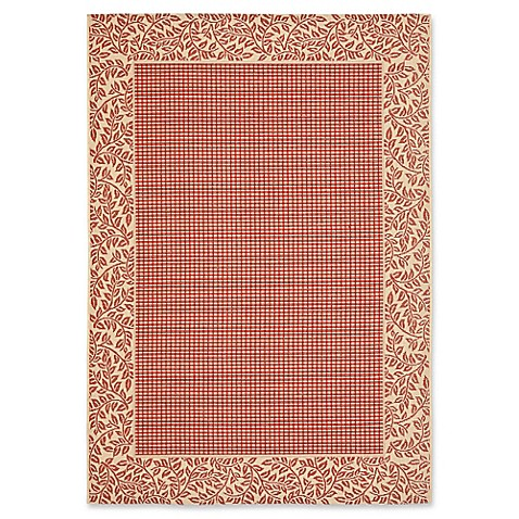 Buy safavieh courtyard 5 foot 3 inch x 7 foot 7 inch emma indoor outdoor rug in red natural from - Tips to consider when buying an outdoor rug ...