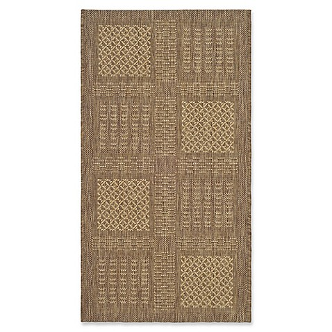 Buy safavieh courtyard 2 foot x 3 foot 7 inch bella indoor outdoor rug in brown natural from bed - Tips to consider when buying an outdoor rug ...