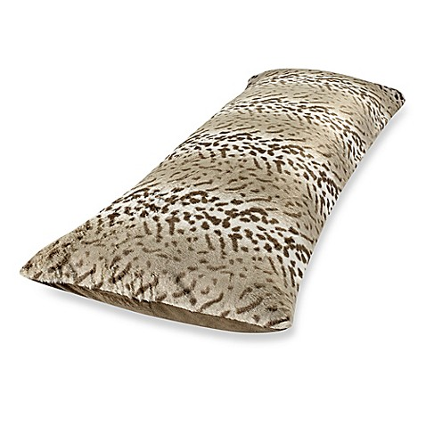 Faux Fur Body Pillow Cover In Leopard Bed Bath Amp Beyond