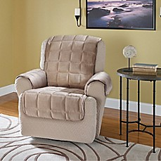 Image Of Plush Recliner And Wingback Chair Protector