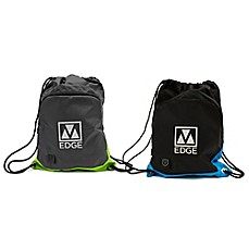 image of M-Edge 18-Inch Tech Sackpack with Battery in Black/Blue