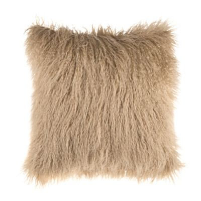 image of Mongolian Faux Fur Square Throw Pillow
