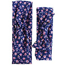 image of Tiny Treasures Navy Floral Mommy and Me Headband Set