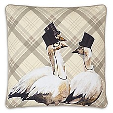 image of Own Label Products Geese Embroidered Square Pillow