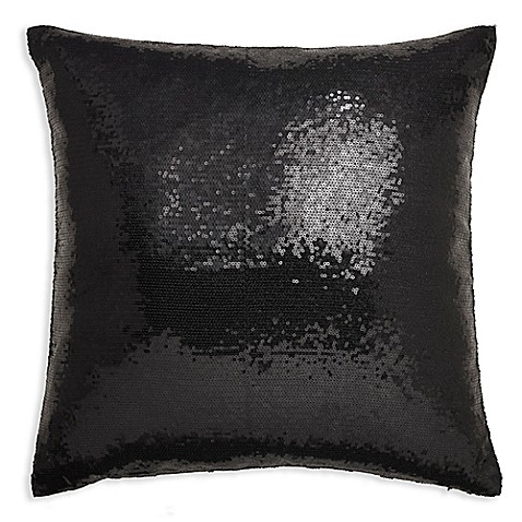 Arthouse Sequin Square Throw Pillow in Black - Bed Bath & Beyond