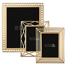 image of Olivia & Oliver Picture Frame in Gold