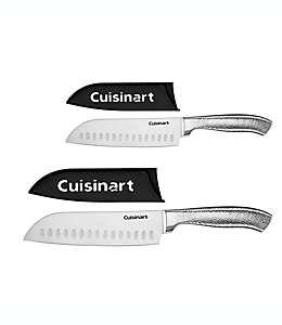 Set de cuchillos Santoku de Classic Cuisinart® acero inoxidable, 4 piezas