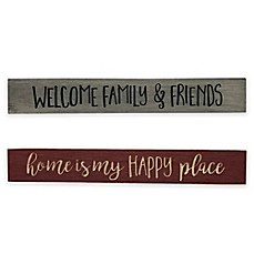 image of Home and Family Wood Plaque Wall Art Collection