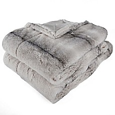 image of Berkshire Blanket Audrey Faux Fur Throw Blanket in Grey