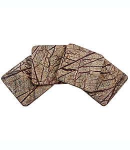 Portavasos cuadrado de mármol Thirstystone® Rainforest, en café