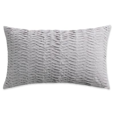 Isaac Mizrahi Home Whitby Oblong Throw Pillow in Grey Bed Bath