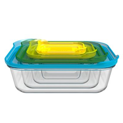 image of Joseph Joseph® Nest 8-Piece Glass Storage Set in Multi