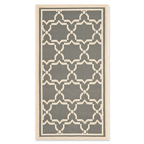 Buy safavieh courtyard 2 foot 7 inch x 5 foot mariam indoor outdoor rug in anthracite beige from - Tips to consider when buying an outdoor rug ...