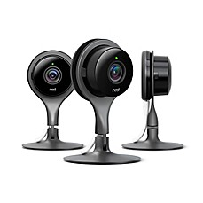 image of Nest Cam 3-Pack Security Cameras in Black/Silver