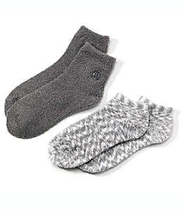 Calcetines humectantes con áloe Earth Therapeutics® en gris, Paquete de 2 pzas.