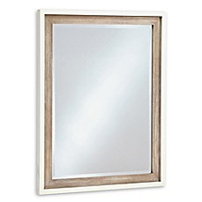 image of smartstuff™ #myRoom Beveled Glass Mirror in Parchment/Grey