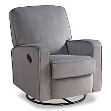 image of abbyson living ashlyn nursery swivel glider recliner