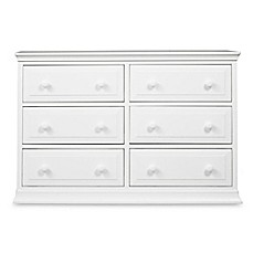 Image Of DaVinci Signature 6 Drawer Double Dresser In White