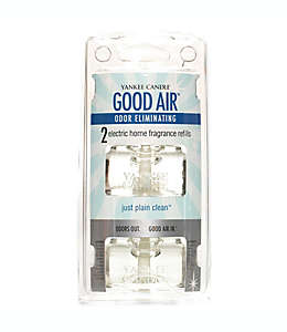 Repuestos para difusor eléctrico, Yankee Candle® Good Air™ Just Plain Clean™, Set de 2