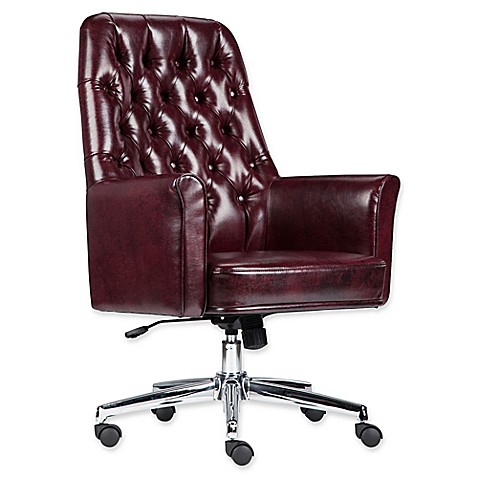 Flash Furniture Mid Back Tufted Leather Executive Office