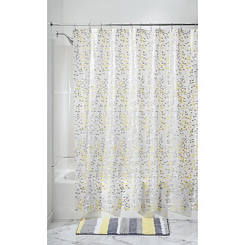 Interdesign Vine Peva Shower Curtain In Grey Bed Bath Beyond