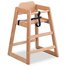 image of Flash Furniture Baby High Chair in Natural