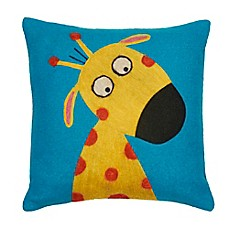 image of Amity Home Funny Giraffe Square Throw Pillow