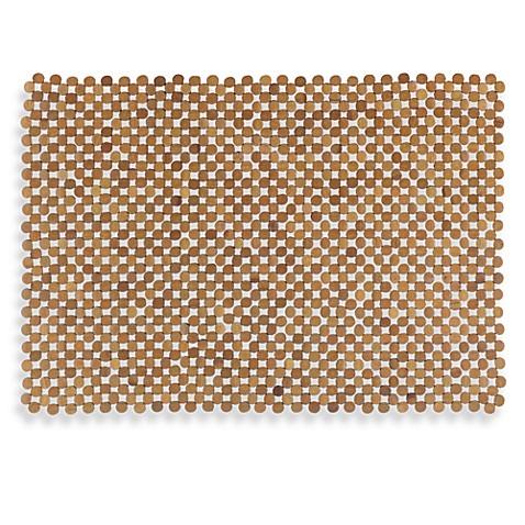 Mosaic Bamboo Mahogany Tub Mat Bed Bath Amp Beyond