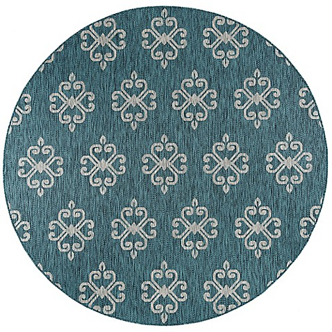 Buy Tayse Rugs Veranda Geo Indoor Outdoor 7 Foot 10 Inch