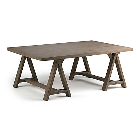 Simpli Home Sawhorse 48 Inch Coffee Table Bed Bath Beyond