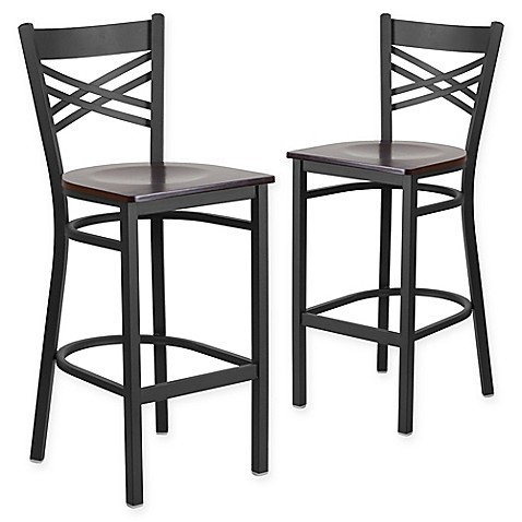 Buy Flash Furniture Quot X Quot Back Metal Wood Bar Stools In
