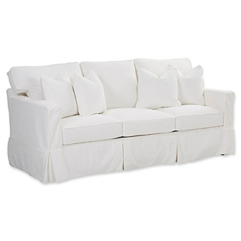 image of klaussner furniture jeffrey queen sleeper sofa in white
