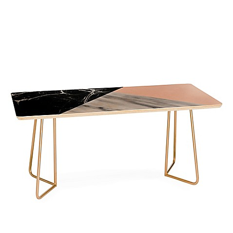 Deny Designs Emanuela Carratoni Collage Coffee Table in Pink