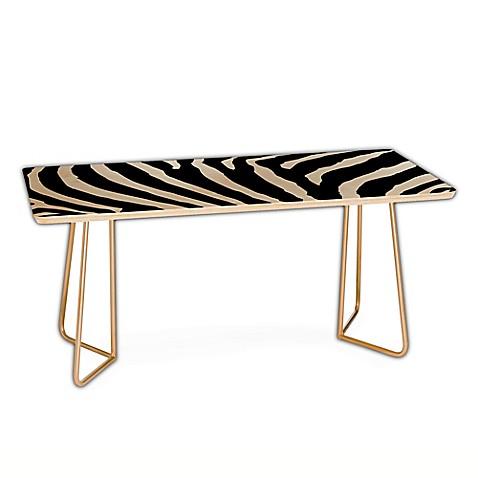 deny designs natalie baca zebra stripes coffee table in black bed bath beyond. Black Bedroom Furniture Sets. Home Design Ideas