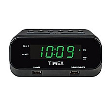 image of Timex® RediSet Dual Alarm Clock with Dual USB Charging Ports