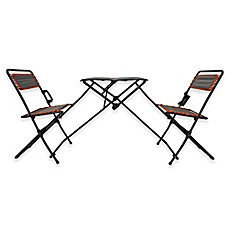 image of folding table and bistro chairs tailgate set