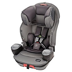 image of Evenflo® SafeMax™ 3-in-1 Booster Car Seat with SensorSafe Technology in Charcoal Fizz