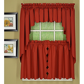 Todayu0027s Curtain Orleans Scallop Window Curtain Tiers And Valance