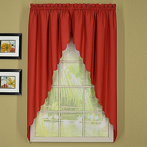 today 39 s curtain orleans 63 inch rod pocket scallop swag window valance pair bed bath beyond. Black Bedroom Furniture Sets. Home Design Ideas
