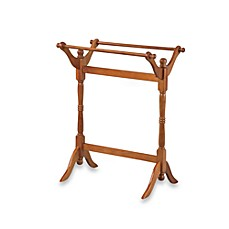 image of 18th Century Reproduction Blanket Rack - Oak
