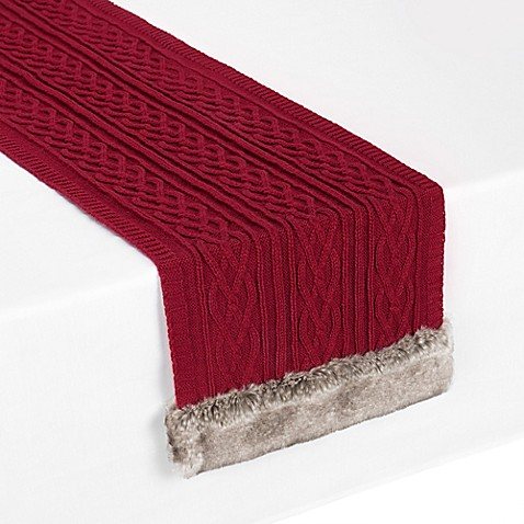 Image Of UGG® Cable Knit Table Runner