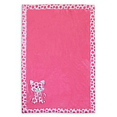 image of Baby's First by Nemcor Plush Cat Blanket in Pink