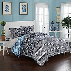 image of Chic Home Carson Reversible Duvet Cover Set